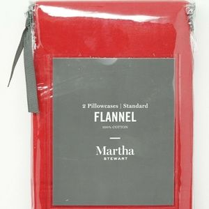Martha Stewart Flannel Pair of Pillowcases